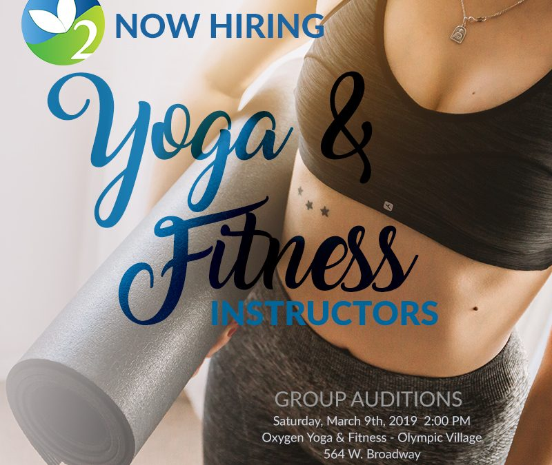 Spring 2019 Instructor Auditions- Vancouver
