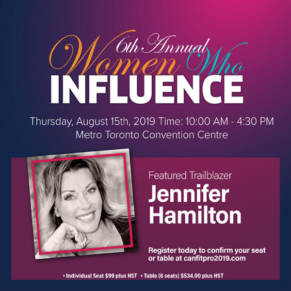 Oxygen CEO Jen Hamilton presenting at Canfitpro 2019